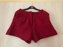 H&M Pantalón de lana rojo oscuro