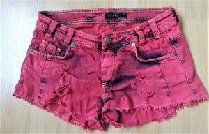 AX Pantaloncino di jeans rosso-nero Tessuto misto