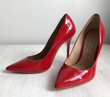 Rote Lackleder Highheels / Pumps von BUFFALO London