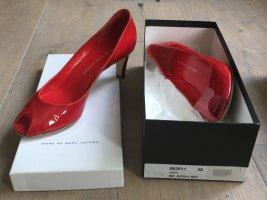 Marc Jacobs Escarpins à bout ouvert rouge-rouge brique cuir