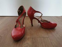 Tamaris Tacones Mary Jane rojo