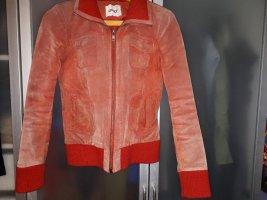 Rote Lederjacke von ONLY