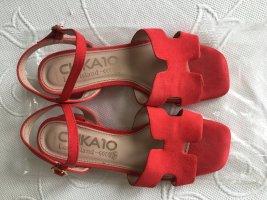 Chika 10 Sandales confort rouge cuir