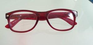 Occhiale rosso neon