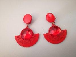 Vintage Orecchino a clip rosso