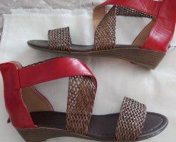 rote Sandalen mit RV Gr. 41