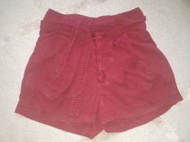 rote Shorts high waist 36