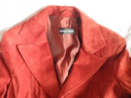 rote Velourslederjacke / Blazer von Gerry Weber, Gr. 38