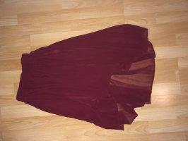 Roter Chiffon midi-Rock/asymmetrisch von Mango