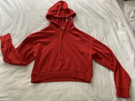 Roter Crop Top Pullover