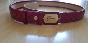 Guess Leather Belt dark red