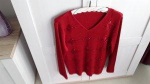 Sweter z krótkim rękawem czerwony