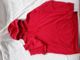 Maglione con cappuccio rosso-rosso mattone