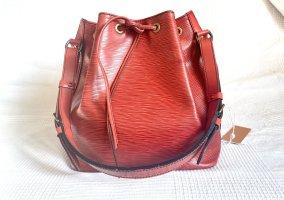 Louis Vuitton Sac porté épaule rouge foncé-rouge cuir