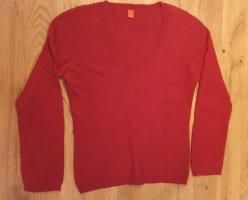 Roter Pullover von Esprit - V-Ausschnitt - 100% Angor a!