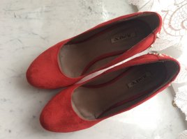 Jumex Shoes neon red imitation leather