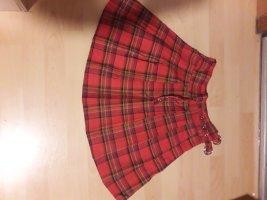 Sheinside Skaterska spódnica czerwony-ceglasty