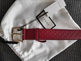 Gucci Ceinture en cuir rouge-rouge brique cuir