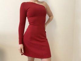 Morgan Sukienka na jedno ramię czerwony-ciemnoczerwony