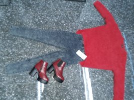 rotes kuscheliges pullover