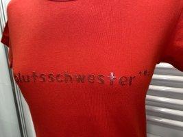 Blutsschwester T-shirt rood