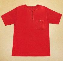 Rotes T-Shirt mit herausnehmbare Schulterpolster, U-Ausschnitt, Gr. 42