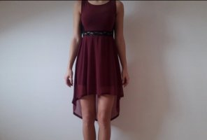 H&M Divided Vestito vokuhila bordeaux