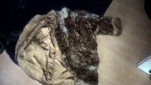 Futrzany płaszcz Wielokolorowy Futro