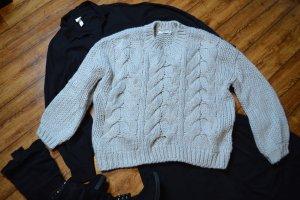 Nakd Coarse Knitted Sweater light grey