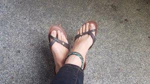 Roxy Strapped Sandals multicolored