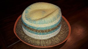 Roxy Straw Hat brown-light blue