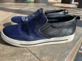 Marc by Marc Jacobs Skater Shoes dark blue-black leather