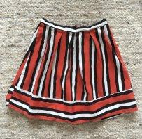MRP Fringed Skirt black-red