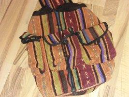 Mini sac à dos multicolore coton
