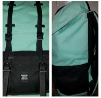 Herschel Zaino laptop nero-turchese