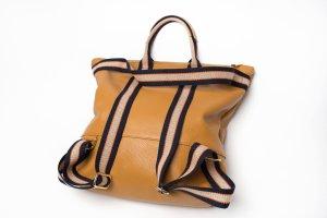 Rucksack Lederrucksack Handtasche Ledertasche 2 in 1 neu camel