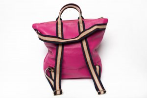 Borse in Pelle Italy Laptop Backpack pink leather
