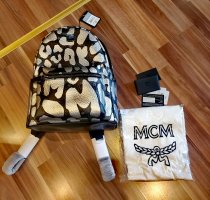MCM Mochila para portátiles negro-color plata