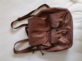 H&M School Backpack brown-cognac-coloured
