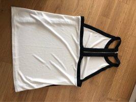 Topshop Top schiena coperta bianco-nero