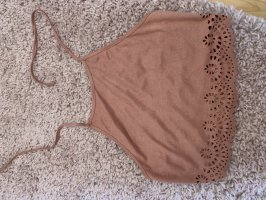 SheIn Backless Top rose-gold-coloured