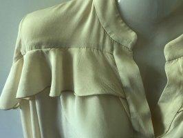 ARKET Bluzka z falbankami w kolorze białej wełny