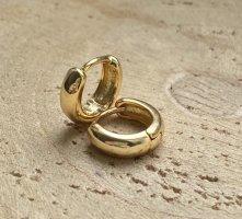 Runde gold creolen Silber 925