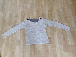 AJC Sweter z okrągłym dekoltem w kolorze białej wełny