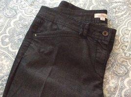 Fashion hero for s.Oliver pantalón de cintura baja negro-color plata Algodón