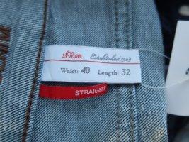 S. Oliver Jeans, süßes Münztäschchen, gerades Bein, blue, 40W/32L