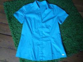 s. Oliver Kurzarmbluse Gr. 38 blau