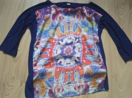 S. Oliver Oberteil Hippie Psychodelisch tolle bunte strahlende Farben hinten Blau