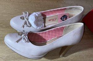 s. Oliver (QS designed) Buty na platformie w kolorze białej wełny-jasnobeżowy