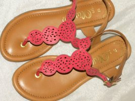 Anastacia by s.Oliver Toe-Post sandals brick red leather